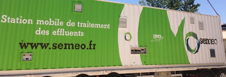 unités mobiles de traitement des effluents